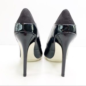 JustFab Shoes - JustFab Patent Leather Black Pointed High Heels